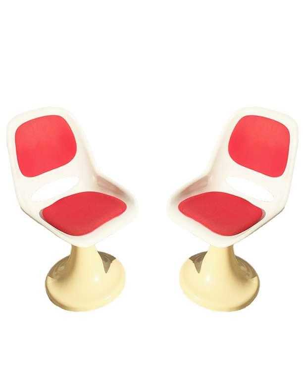 unikvintage64-chaises pivotantes