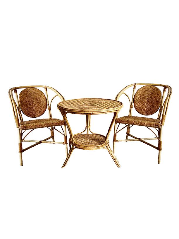 unikvintage64- ensemble table et fauteuil