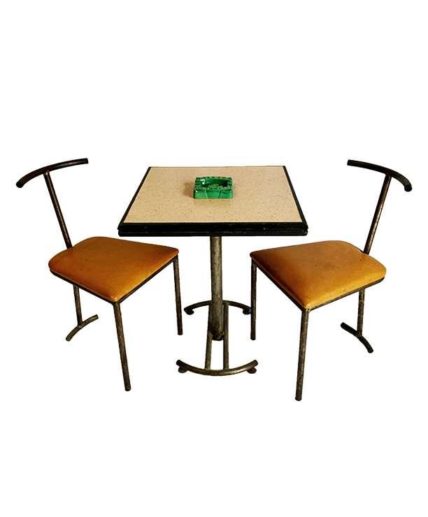 unikvintage64-table et chaise bistrot