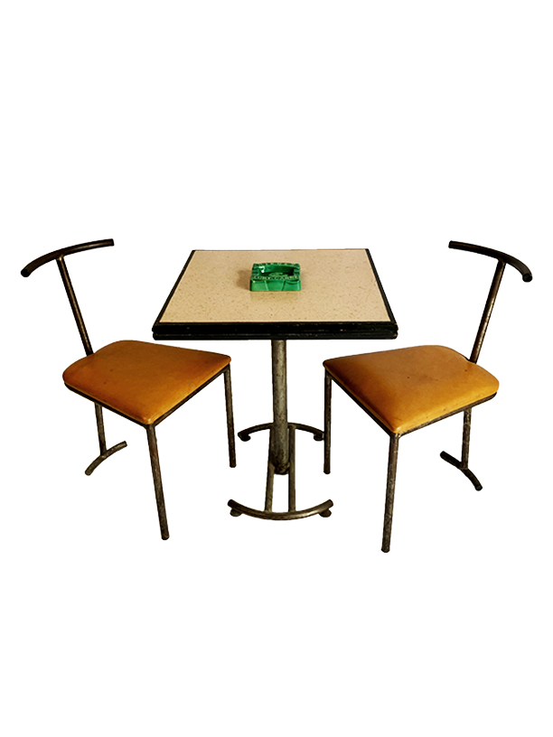 unikvintage64-table et chaise bistrot