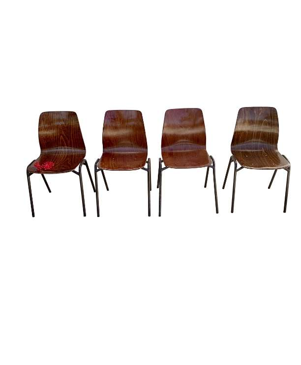 unikvintage64-Chaises pagholz pagwood