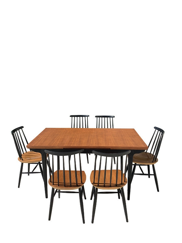 unikvintage64-ensemble table chaises
