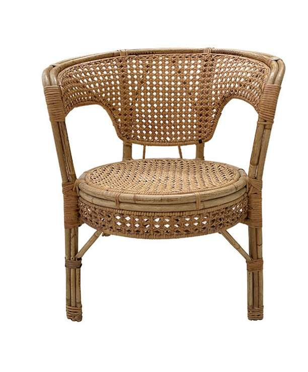 unikvintage64-fauteuil rotin cannage