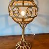 unikvintage64-lampe rotin années 50
