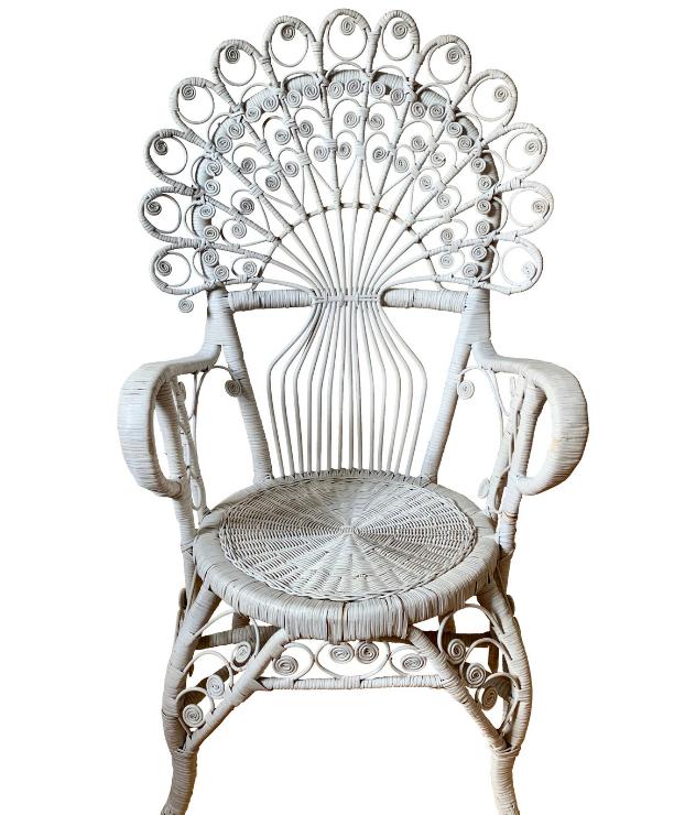 unikvintage64-fauteuil rotin peacock